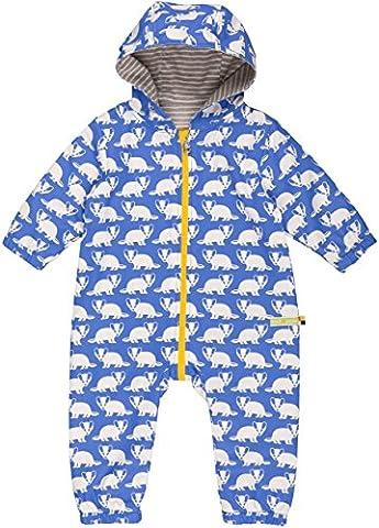 loud + proud Unisex Baby Wasserabweisender Overall, Blau (Pacific Pa), 92 (Herstellergröße: