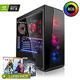 Megaport High End Gaming PC AMD Ryzen 5 2600X 6 x 4.20 GHz Turbo • Nvidia GeForce RTX 2060 6GB • 240GB SSD • 1000GB Festplatte • 16GB DDR4 RAM • Windows 10 • WLAN Gamer pc Computer Gaming Computer