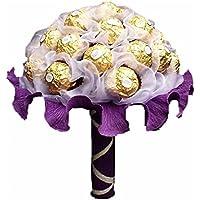 """Handgebundener Pralinenstrauß """"Ferrero Rocher"""", Pralinen-blumen-strauß,Geschenk zum Muttertag, Geburtstag,Kommunion,Hochzeit, Blumenversand, Konfirmation & Firmung"""