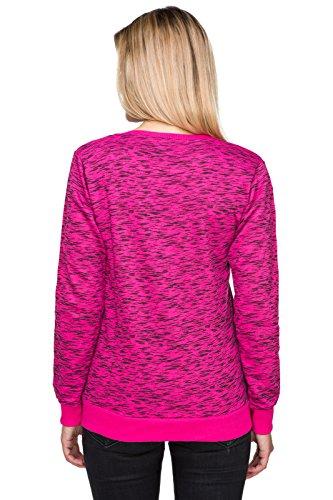 FUTURO FASHION Décontractés Pour Dames Capuche Trendy texturé matelassé Manches Longues Sweatshirt À Capuche FZ95 Rose