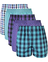 Gildan Men's Woven Boxer Underwear Multi-Pack