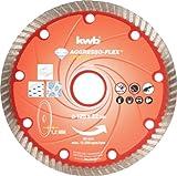 kwb AKKU-TOP Diamant-Trennscheibe Aggresso-Flex - 125 mm x 1,2 mm, für Winkelschleifer und Trennschleifer, 22 mm Bohrungs-Durchmesser