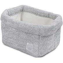 Jollein - Funda para cambiador, cesta de punto melange, suave gris, cesta de