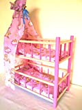 NEW WOODEN BUNK BED WITH CANOPY CRIB DOLLS TOY