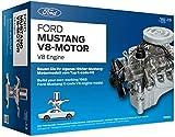 FRANZIS Ford Mustang V8-Motor    200-Teile Bausatz - transparentes, voll funktionsfähiges Motormodell und reich bebildertes Handbuch   Basteln für Auto Fans   Ab 14 Jahren