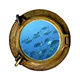 TATOUTEX Sticker, Trompe Auge Bullauge Gartenbank Fische, L 110cm x H 110cm
