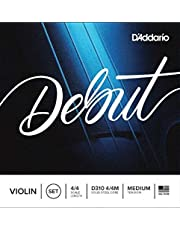 D'Addario Debut Violin String Set, 4/4 Scale, Medium Tension