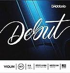 D'Addario Debut Violin String Set, 4/4 Scale, Medium Tension