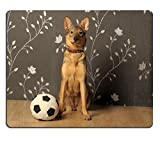 Liili Mouse Pad-Tappetino per Mouse in gomma naturale con ID 11996161 immagine: cagnolino con palla