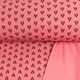Softshell Stoff Dreiecke rosa Outdoorbekleidungen