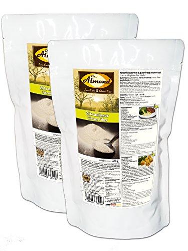 Dr. Almond Zitrusfaser low-carb glutenfrei paleo – Bindemittel Soßenbinder Speisestärke-Ersatz mit 0 {4592f1edb3511ce1fbdab73b9d6ec4bdfffabeab1947c86ce4e7bb3bc0dfcb36} Kohlenhydraten - das revolutionäre neue Bindemittel! (2 x 400 g)