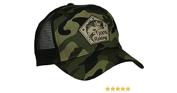 Angler Baseball Cap Kappe Mütze Camouflage Fishing Angler Mütze Angeln