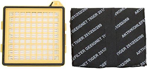 1 Hepa-Filter Mikrofilter | 1 Kohlefilter geeignet für Vorwerk Staubsauger Tiger 260 VT 260 VT260
