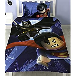 Juego de cama reversible de LEGO de Batman Superman Battle, polialgodón