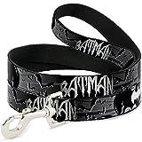 Buckle Down dl-6ft-wbm036-n schwarz/weiß Batman Pet Leine, 6Füße long-1/5,1cm breit