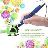 3D Drucker Stift, LESHP 3D Drucker Pen DIY Scribbler 3D Stereoscopic Printing Pen 3D Pen Kugelschreiber Kinder Doodle Stift mit LCD Bildschirm + 3 ABS Filaments