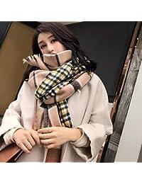 f8f280058fd6 IBUP Écharpe Jacquard Jacquard Imitation Cachemire Automne et Hiver Épais  Pompon Echarpe Homme Femme Foulard Chaud