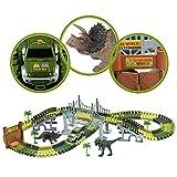 Car Track mit 2 Dinosaurier und Auto Rennbahn Spiel Set Montage Spielzeug für Kinder ab 3 4 5 Jahre - 3