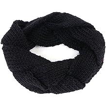 TININNA Donne Signora Inverno Caldo Moda selvaggi Cable Knit Lavorato a maglia Accessori per capelli Copricapo Hairband Cerchietti Turbante Nero