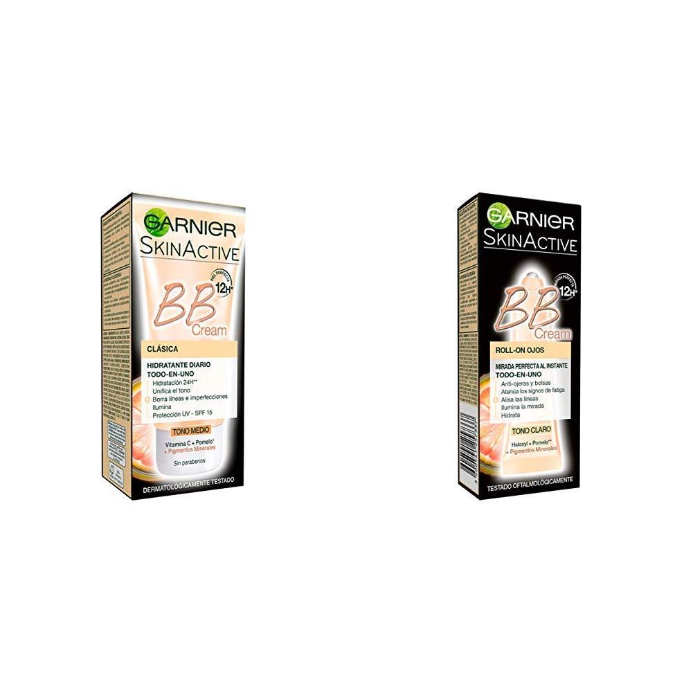 Garnier Skin Active BB Cream Clásica Perfeccionador Prodigioso para Pieles Normales, Tono Medio SPF15 con Vitamina C…