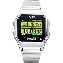 Timex T78587 Orologio Digitale da Polso da Uomo, Acciaio Inox, Argento