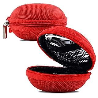Schutzhülle für Kopfhörer, Hartschale, Aufbewahrungsbox, Tragetasche für Nuheara IQbuds, Rot