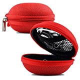 Red Earphone, Headphone Protective Hard Case, Storage Box, Carrying Pouch for GOJI GTCINHR18