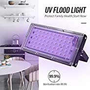 50W UV LED Sterilizer Light, Ultraviolet Sanitizer Light Germicidal Sterilization Lamp UVC Light Sterilizer Di