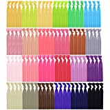 100 Pieces Elastic Hair Ties No Crease Elastic Ribbon Ponytail Holders Hair Bands for Girls Women Teens and Kids Bows (Multicolor A)