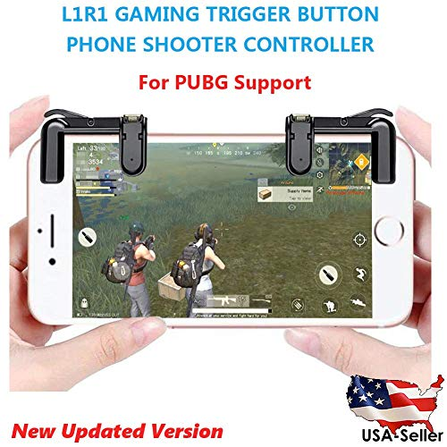 Mobile Action Bluetooth (MENG PUBG Mobile Game-Controller (Upgrade-Version) Sensitive Schießen und Zweck L1R1 Trigger-Taste PUBG/Survival Rule Key Action, Mobile Game Trigger)