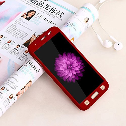 Sun Tigers 360 Degree Full Body Protection Front & Back Case Cover for Samsung Grand 2 /7106 with Tempered Glass (iPaky Style),;.-,. - RED  available at amazon for Rs.349