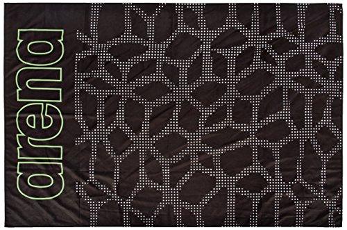 ARES5 Arena Microfaser Groß Carbonite Towel Handtuch, Black-Leaf, One Size