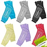 Bundle Monster Damen, 6 Paar, Antirutsch-Workout Yoga-Socken Feety verschiedene Farben