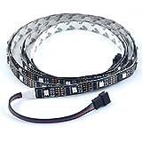 WS2801 Adressierbare LED Streifen Arduino Entwicklung Ambilight TV 32 leds/m 5050 RGB 12mm Schwarz PCB DC5V Nicht wasserdicht IP20 Führte Magic Dream Farbe Seil Licht