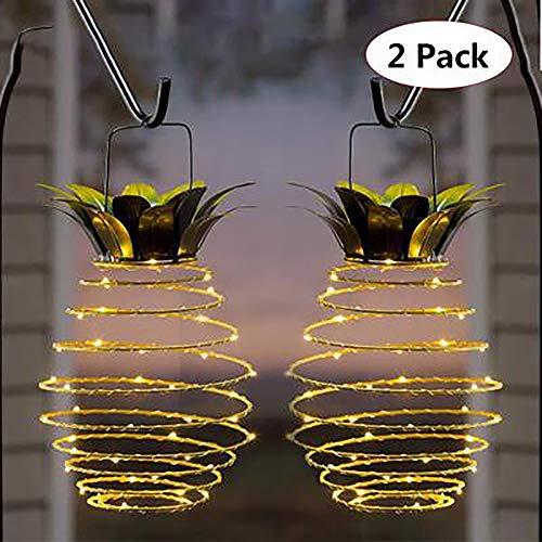 Outdoor Hängenden Dekorationen - TEHWDE 2 Pack Solar Lampe Ananas