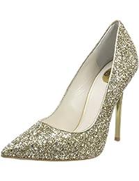 H733c-117 P1855d Glitter, Scarpe con Cinturino alla Caviglia Donna, Oro (Gold 01), 37 EU Buffalo