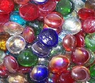 200 Glass Pebbles Nuggets Beads Stones Mosaic Mixed Colours