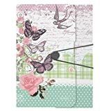 herlitz 11224722 Gummizugmappe A4, Ladylike Butterfly, 3er Pack