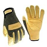 Cestus WeldTech 1600C-7056L Guantes de soldador, resistentes a las llamas, guantes de trabajo, resistentes al corte, tamaño grande (el paquete incluye