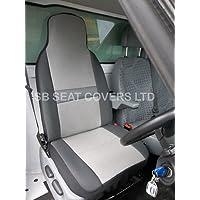 NV200 Nissan Van sedile Covers-Sheen Fabric-asciugamano e panno di pulizia, confezione da 2, colore: grigio