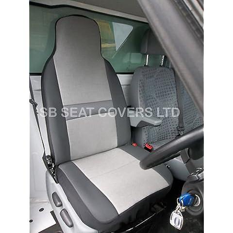 Peugeot Bipper Van sedile Covers-Sheen Fabric-asciugamano e panno di pulizia, confezione da 2, colore: grigio