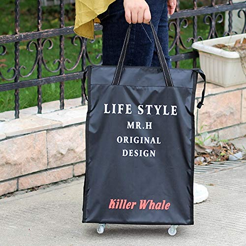 XiaoYu Universal Wheel Tote Reisetasche Rolling Bag Air Roller Erweiterbar Oxford Cloth Gepäcktaschen Mit Wheel Night Bags Übernachtung (Color : G) - 36 Rolling Duffle