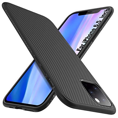 iBetter per iPhone 11 PRO Max/iPhone XI PRO Max Cover, Thin Fit Gomma Morbida Protettiva Cover, Protezione Durevole,per la iPhone 11 PRO Max/iPhone XI PRO Max 6.5 Smartphone.(Nero)