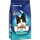 Felix Trocken Ocean Sensations mit Fisch Katzenfutter von Purina, 6er Pack (6 x 2 kg)