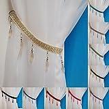 Crystal Beaded Curtain Tie Back (Cream)