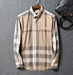 Authentic Burberry men's classic stiletto cotton long-sleeved casual shirt