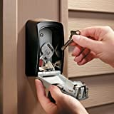 Wall-mounted combination key box/key safe, grey/black for sharing your keys securely. Bild 4