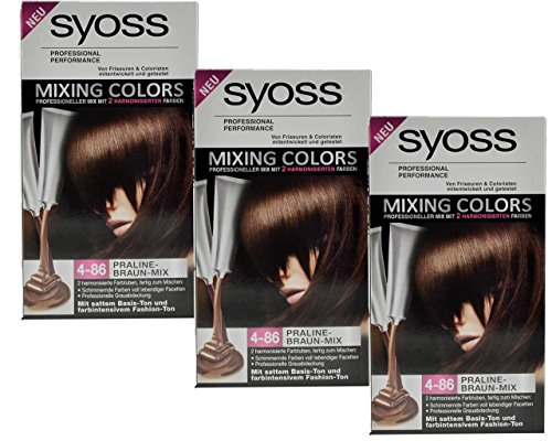 3 x syoss mixing colors 4 86 pralinemarronmix 135 ml - Syoss Coloration Prix