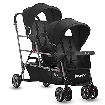 Joovy BigCaboose Triple Stroller for Newborn (Black)  FANJIANI
