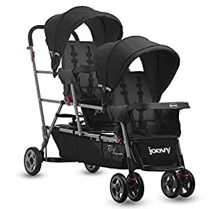 Joovy BigCaboose Triple Stroller for Newborn (Black)